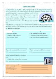 English Worksheets: Verb Be- elicitation from a reading comprehension text+key
