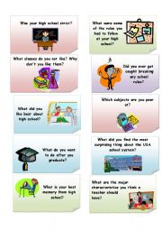 English Worksheets: School Discussion - Part 3