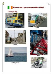 English Worksheet: How can I go around Dublin?(2)