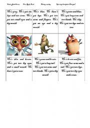 Memory game-description-have got-monsters-part 2