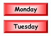 English Worksheets: date display cards