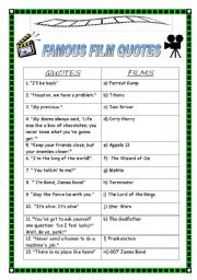 English Worksheets: FIlM, MOVIES, CINEMA (4 exercises + KEY)