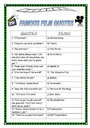 English Worksheet: FIlM, MOVIES, CINEMA (4 exercises + KEY)