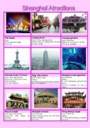 English Worksheets: Shanghai atractions