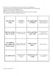 English Worksheets: Idioms Memory Game 4