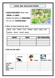Worksheet Living Vs Nonliving Worksheet english worksheet living and non things