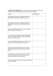 English Worksheet: Crime and punishment- you are the judge