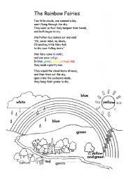 English Worksheet: The rainbow fairies