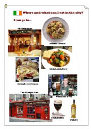 English Worksheet: Where and what can I eat in Dublin?(3)