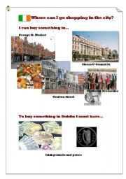 English Worksheet: Where can I go shopping in Dublin?(4)