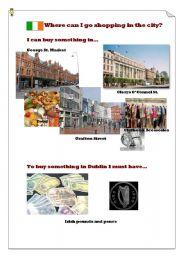 English Worksheet: Where can I go shopping in Dublin?(4)