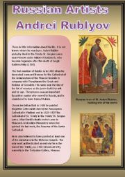 English Worksheets: Russian Artists Andrei Rublyov