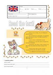 English Worksheet: Test - 6th grade