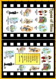 English Worksheets: Type of films