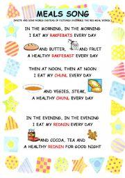 Healthy Food Songs For Preschoolers