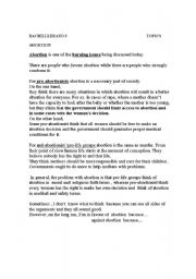 english worksheets some ideas to write an essay on abortion debate english worksheet some ideas to write an essay on abortion debate