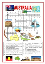 Australia crossword