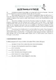 English Worksheets: Reading comprehension 2