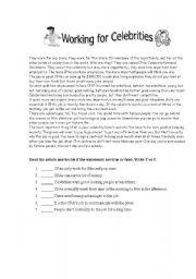 English Worksheets: Reading comprehension 3