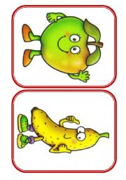 English Worksheet: Fruits - flashcards