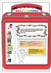 English Worksheets: dora daily routines