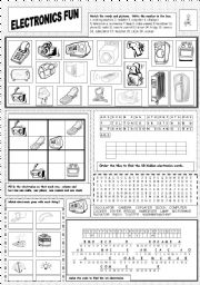 English Worksheet: Electronics Fun