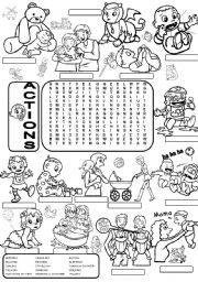 English Worksheets: Wordsearch ACTIONS