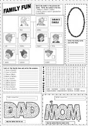 English Worksheets: Family Fun
