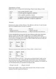 English Worksheets: Characteristics of the noums