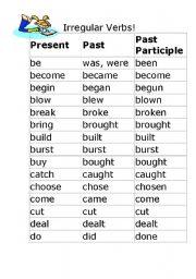 make irregular verb