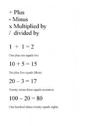 Maths and English - ESL worksheet by doccarazo