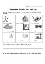 math worksheet : english teaching worksheets consonant blends : Kindergarten Blends Worksheets
