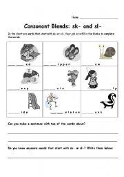 english teaching worksheets consonant blends. Black Bedroom Furniture Sets. Home Design Ideas