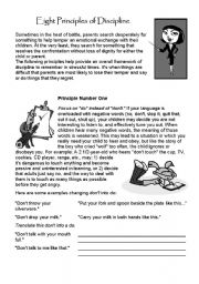 English Worksheets: Principles of Discipline