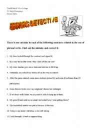 English Worksheets: Errors Detective