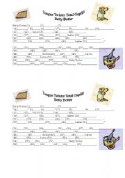 English Worksheets: Total Gapfill - Betty Botter