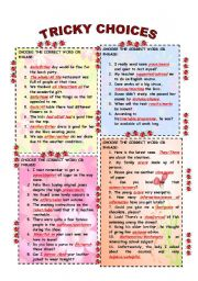 English Worksheets: TRICKY WORDS