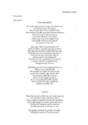 English Worksheets: metaphysical poets