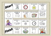 English Worksheet: Board Game - Time, Weather, Parts of the house ...