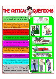 English Worksheets: CRITICAL QUESTIONS