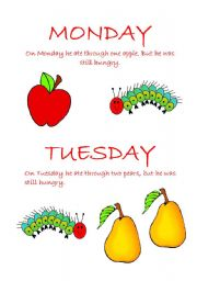 English Worksheets: The Very Hungry Caterpillar- Part2