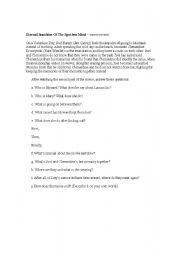 English Worksheets: Activity about  the movie Eternal Sunshine of The Spotless Mind