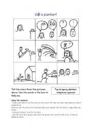 English Worksheets: Plumber