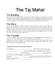 English Worksheets: Reading comprehension exersice