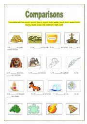 English worksheet: comparisons