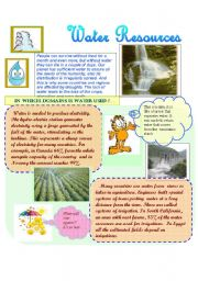 English Worksheet: Water Resources