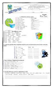 English Worksheets: Just for fun (Fast finishers)