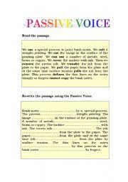 passive voice reading comprehension pdf