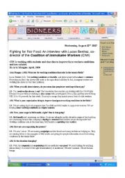 English Worksheets: WORKING CONDITIONS