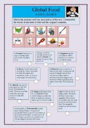 English Worksheet: Global food-Eating habits